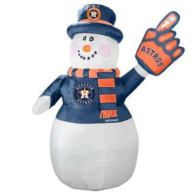 7 ft. Houston Astros Inflatable Snowman