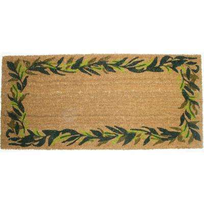 22 in. x 47 in. Bay Leaves Vinyl Back Coco Door Mat