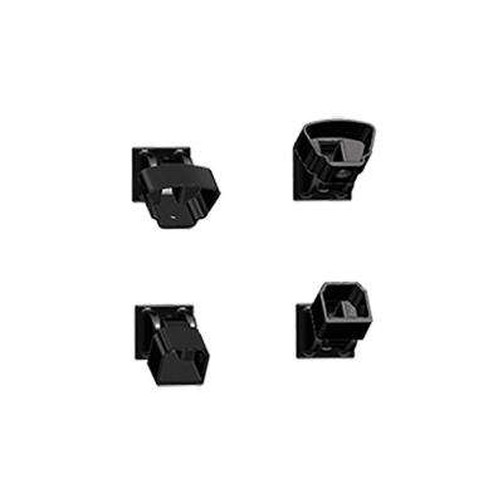 Classic Black Aluminum Adjustable Stair Bracket Kit (4-Piece)