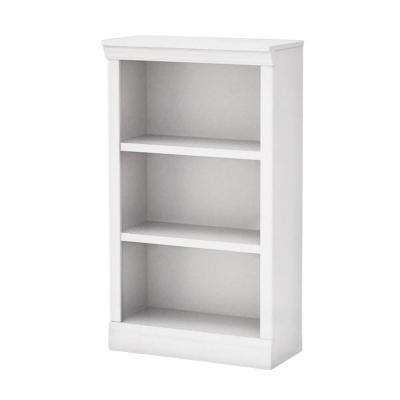 White Open 3 Shelf Bookcase
