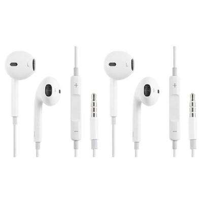 OEM EarPods with Remote and Mic for iPhone for 6s, 6s Plus, 6, 6 Plus, 5s, 5, 5c, SE, 4s, 4 (2-Pack)