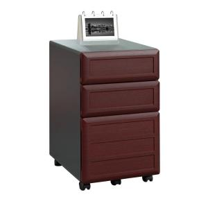 +2. Ameriwood Home Mansfield 3 Drawer Cherry And Gray File Cabinet