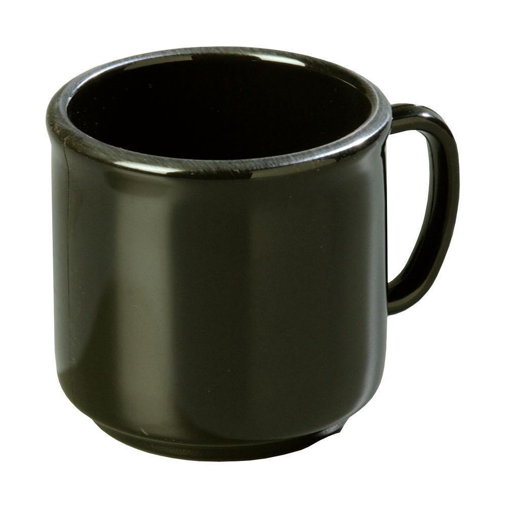 10 oz. SAN Plastic Mug in Black (Case of 12)