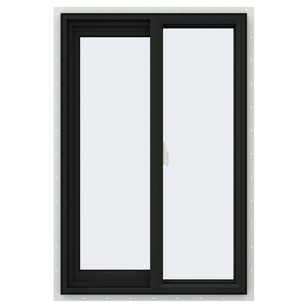 JELD-WEN 23.5 in. x 35.5 in. V-2500 Series Left-Hand Sliding Vinyl Window - Bronze