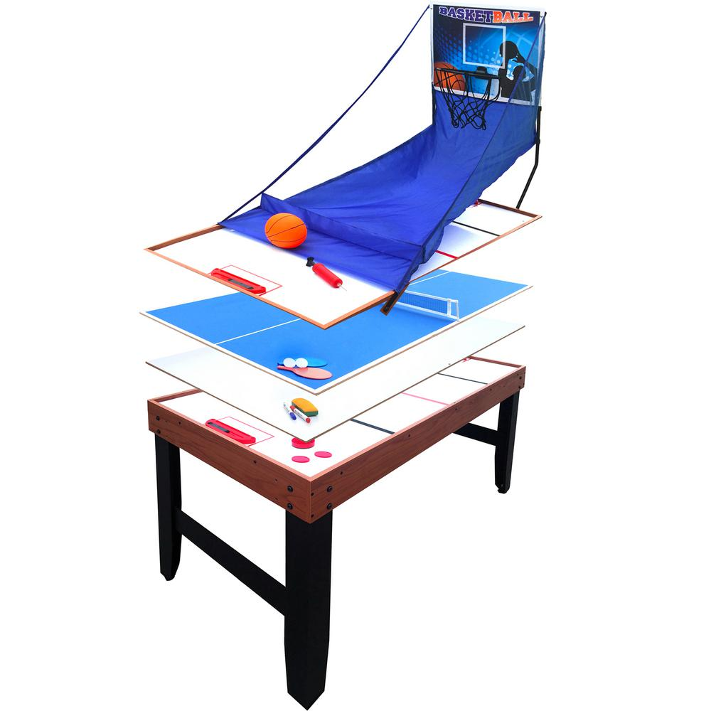 Accelerator 54 in. 4-in-1 Multi-Game Table