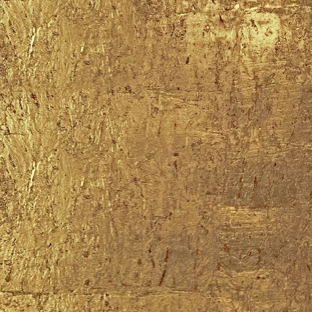 The Wallpaper Company 72 sq. ft. Gold Cork Wallpaper