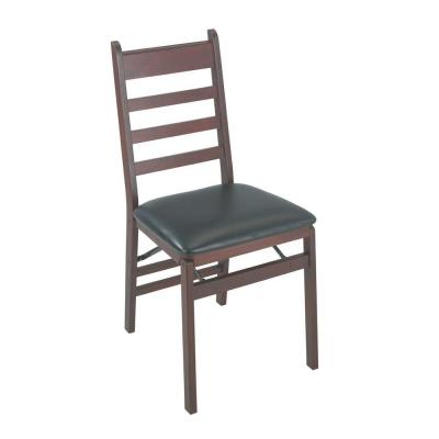 Woodcrest Brown Folding Chair (Set of 2)
