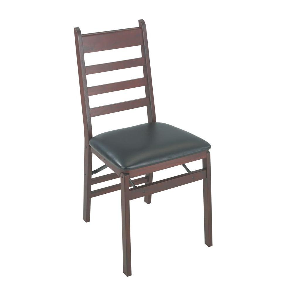 Cosco Woodcrest Brown Folding Chair Set Of 2