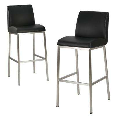 Modern 300 400 Black Bar Stools Kitchen