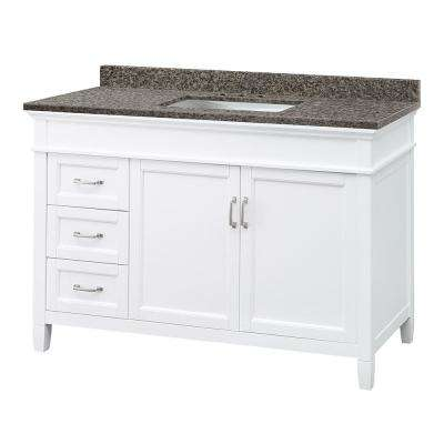 Ashburn 49 in. W x 22 in. D Vanity in Mahogany with Granite Vanity Top in Sircolo with White Sink
