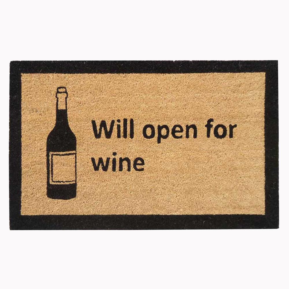 Nedia Home 18 In X 30 In Only For Wine Super Scraper Door Mat