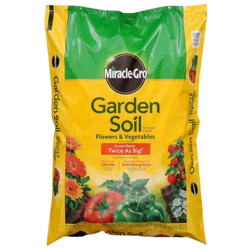 miracle gro 1 cu ft garden soil for flowers and vegetables - Miracle Gro Garden Soil