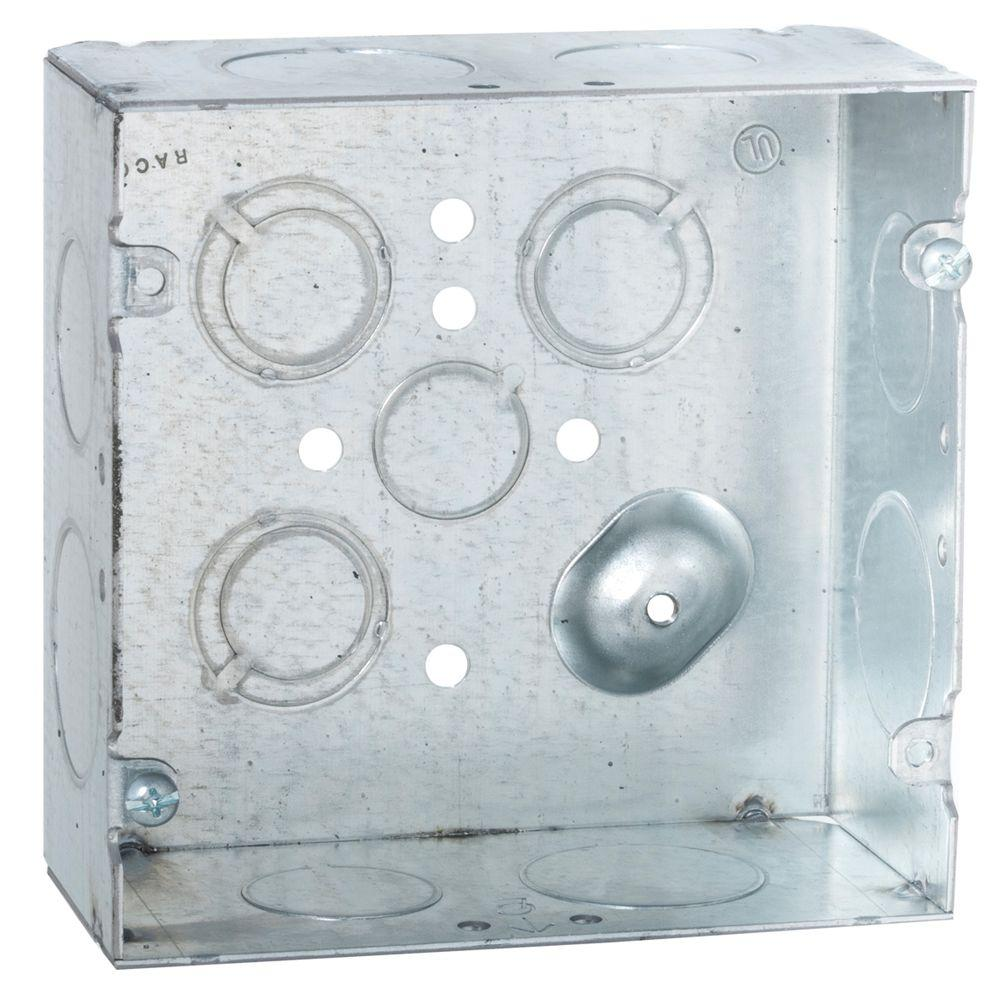 4-11/16 in. Square Welded Box, 2-1/8 in. Deep with 3/4 and