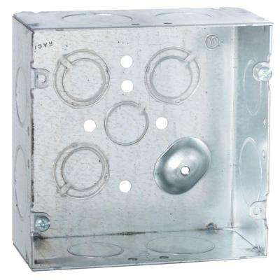 4-11/16 in. Square Welded Box, 2-1/8 in. Deep with 3/4 and 1 in. KO's (20-Pack)