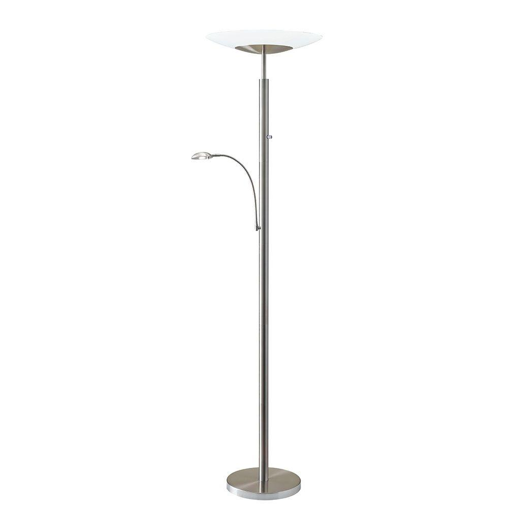 Stellar 72 In. Silver LED Combo Torchiere