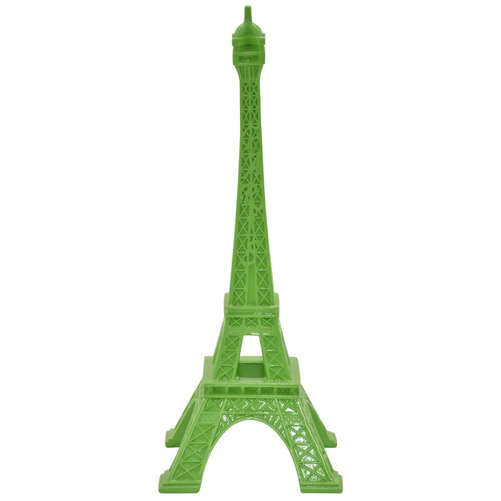 14.5 in. Eiffel Tower Tabletop in Green