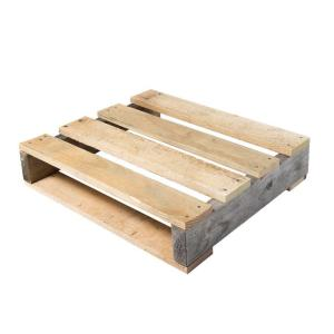 Crates & Pallet 24 in. x 24 in. x 5 in. Reclaimed Wood Quarter Pallet-94716  - The Home Depot