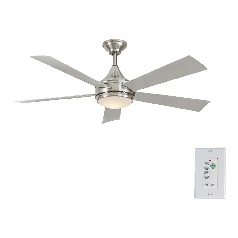Home Decorators Collection Hanlon 52 in. Integrated LED Indoor/Outdoor Stainless Steel Ceiling Fan with Light Kit and Wall Control