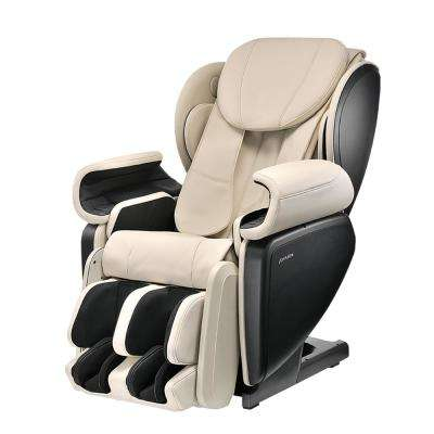 Ivory Contemporary Synthetic Leather Premium 4D Japanese Designed Massage Chair