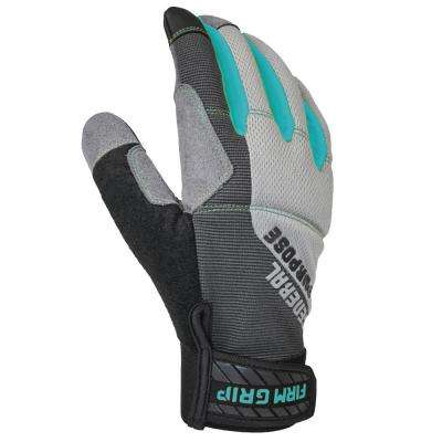 General Purpose Women's Medium Gray Synthetic Leather Glove