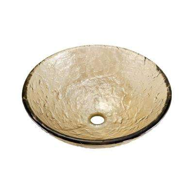 15 in. Vessel Sink in Sea Green