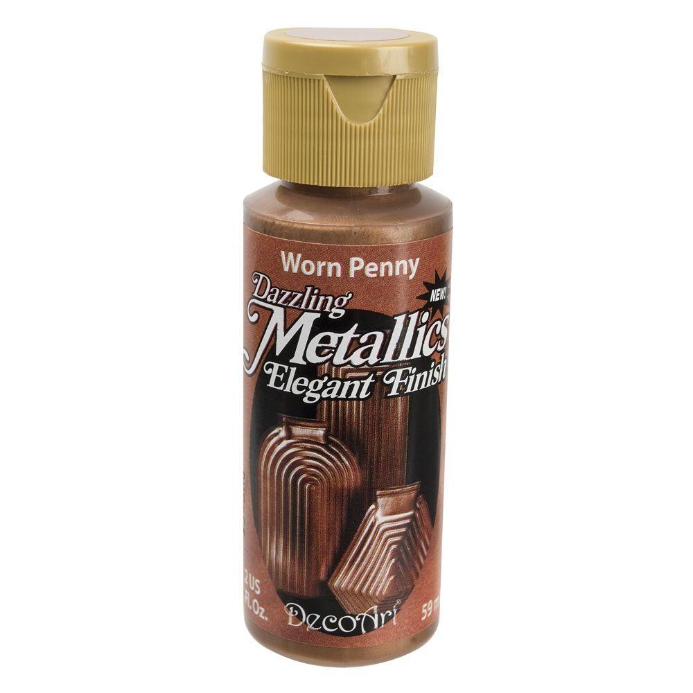 DecoArt Dazzling Metallics 2 oz. Worn Penny Acrylic Paint