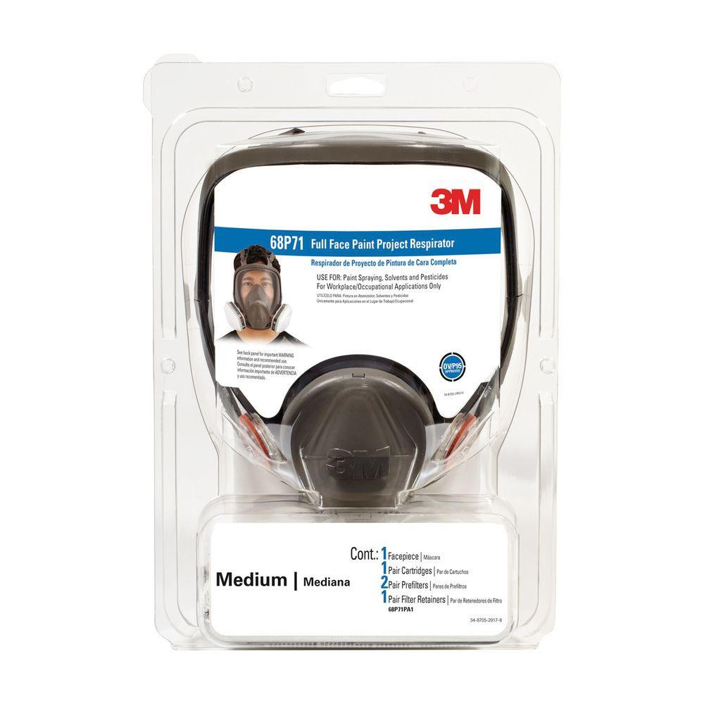 Medium Full-Face Paint Spray Project Respirator Mask (Case of 2)
