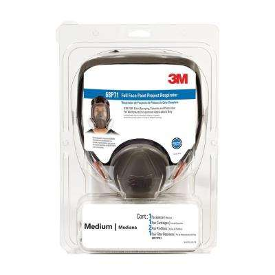 Medium Full-Face Paint Spray Project Respirator Mask (Case of 2)