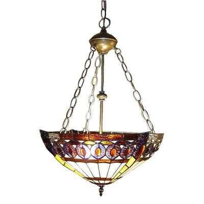 Amberjack Tiffany 2-Light Bronze Hanging Pendant