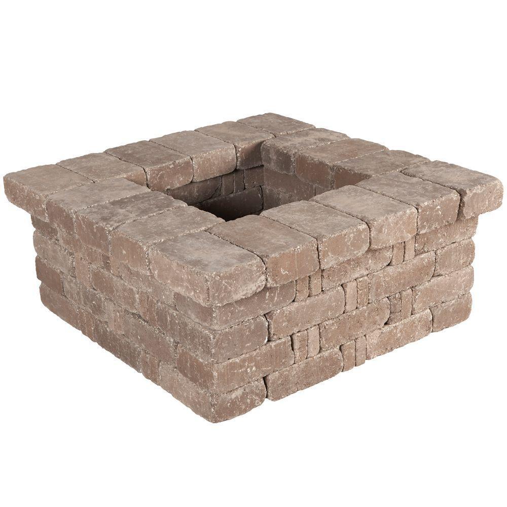 RumbleStone 42 in. x 17.5 in. x 42 in. Square Concrete Planter Kit in Cafe