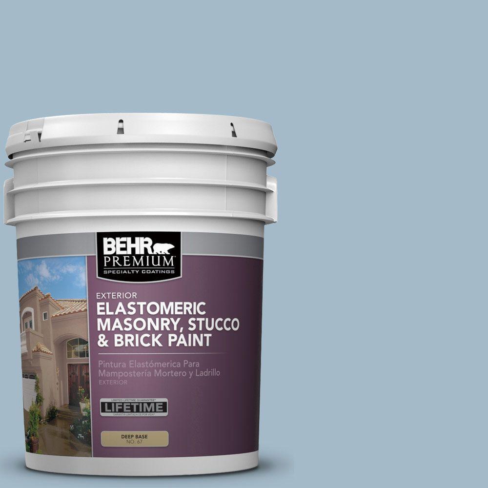 5 gal. #MS-73 Aegean Sky Elastomeric Masonry, Stucco and Brick Exterior Paint