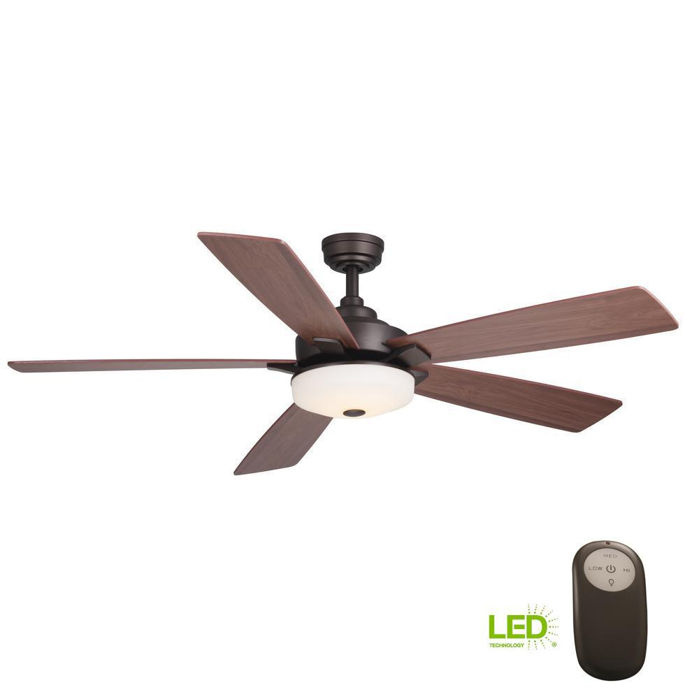 Hunter Isleworth 54 Onyx Bengal Ceiling Fan With Light At: Hunter Osbourne 54 In. Indoor Onyx Bengal Bronze Ceiling