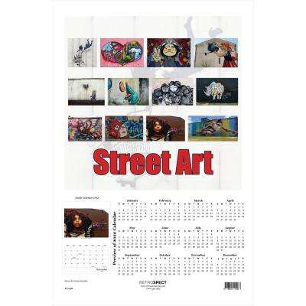 19 in. x 12.5 in. Street Art Calendar - 2019 Calendar