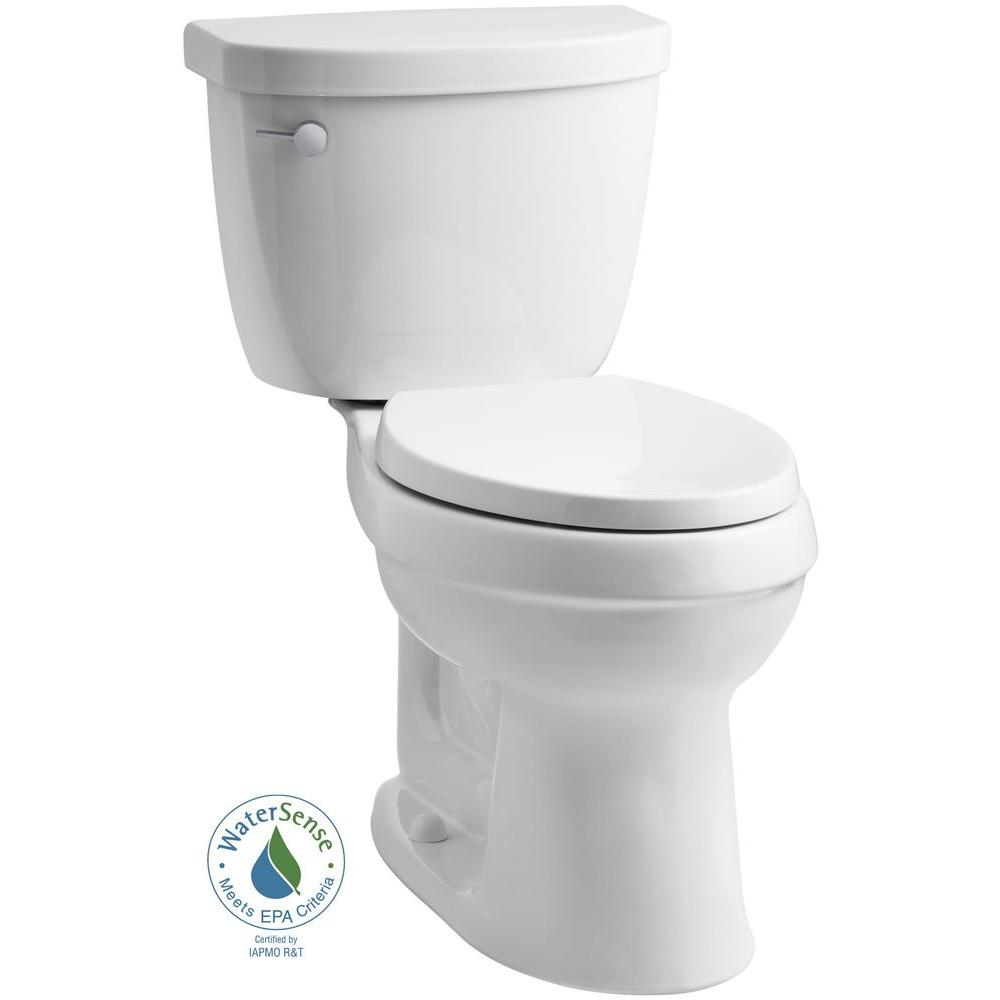 Cimarron 2-piece 1.28 GPF Single Flush Elongated Toilet with AquaPiston Flushing