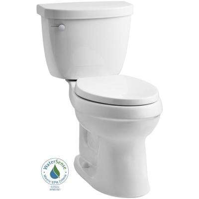 Cimarron 2-piece 1.28 GPF Elongated Toilet with AquaPiston Flushing Technology in White