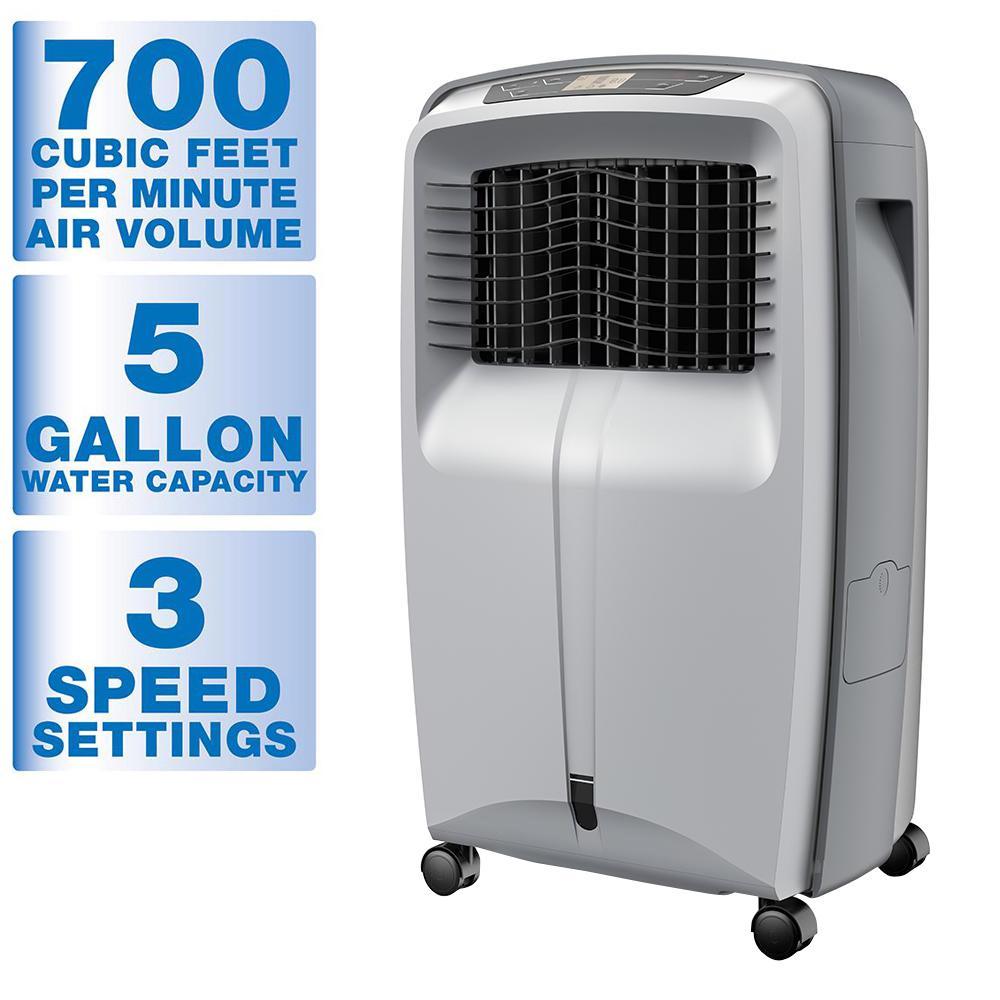 700 CFM 3 Speed Portable Evaporative Cooler for 500 sq. f...