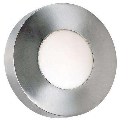 Burst Polished Aluminum Small Round Sconce