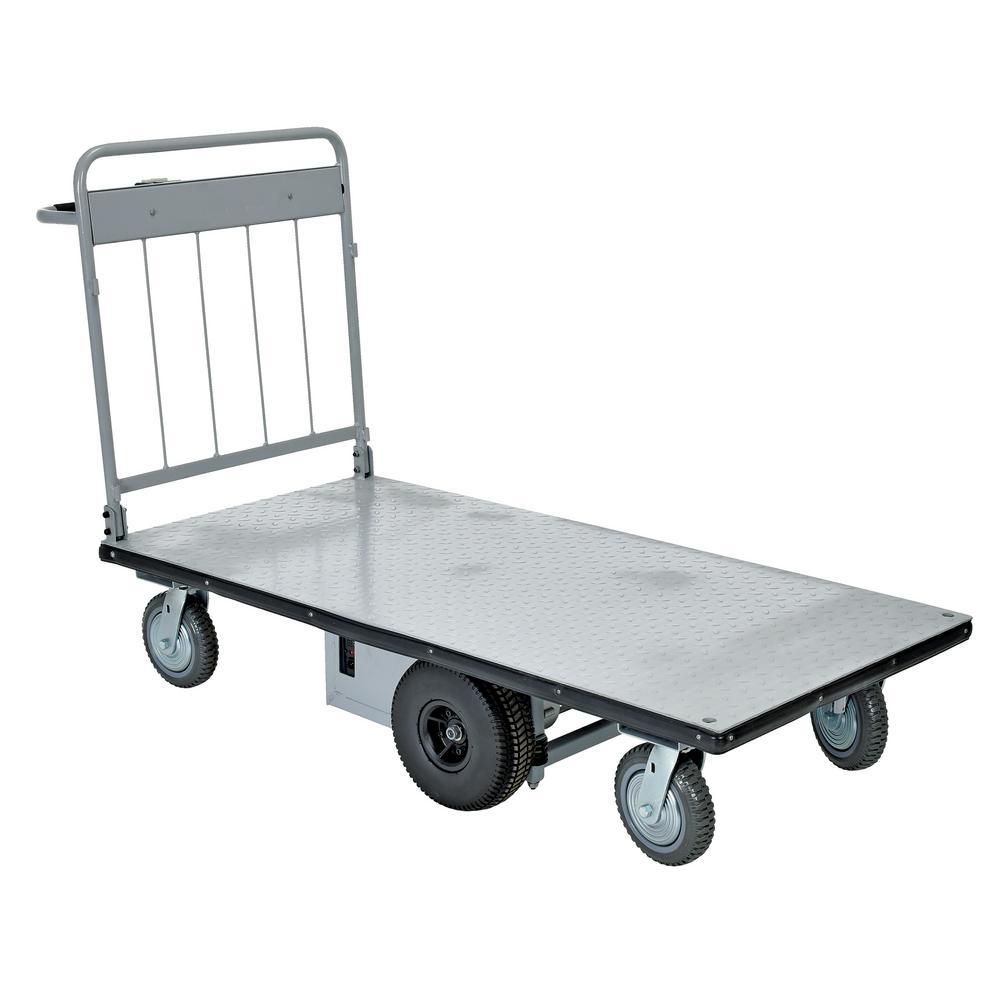 28 in. x 60 in. Electric Material Handling Cart No Side