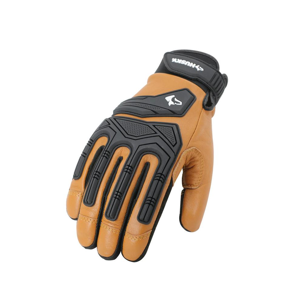 husky large goat leather extreme duty glove 2 pack ga8911 l the