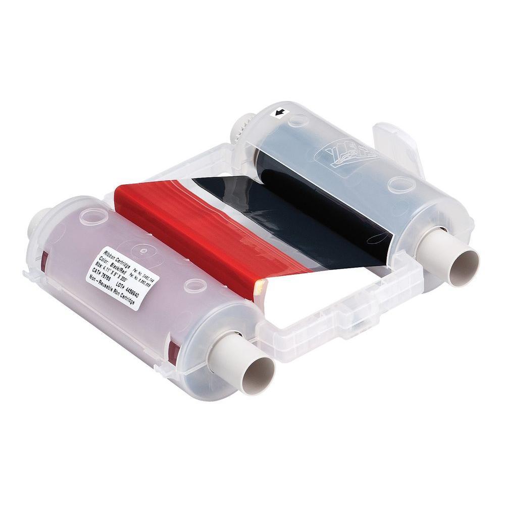GlobalMark Black/Red Panel Ribbon Cartridge