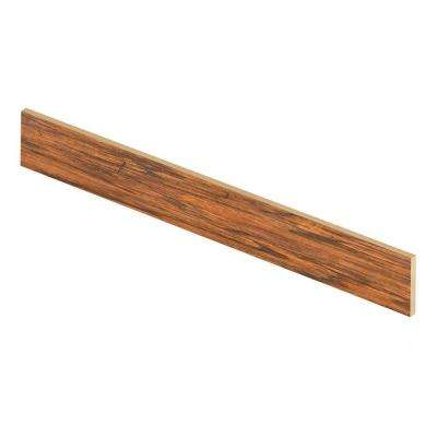 Cleburne/Distressed Brown Hickory 47 in. Long x 1/2 in. Deep x 7-3/8 in. Tall Laminate Riser to be Used with Cap A Tread