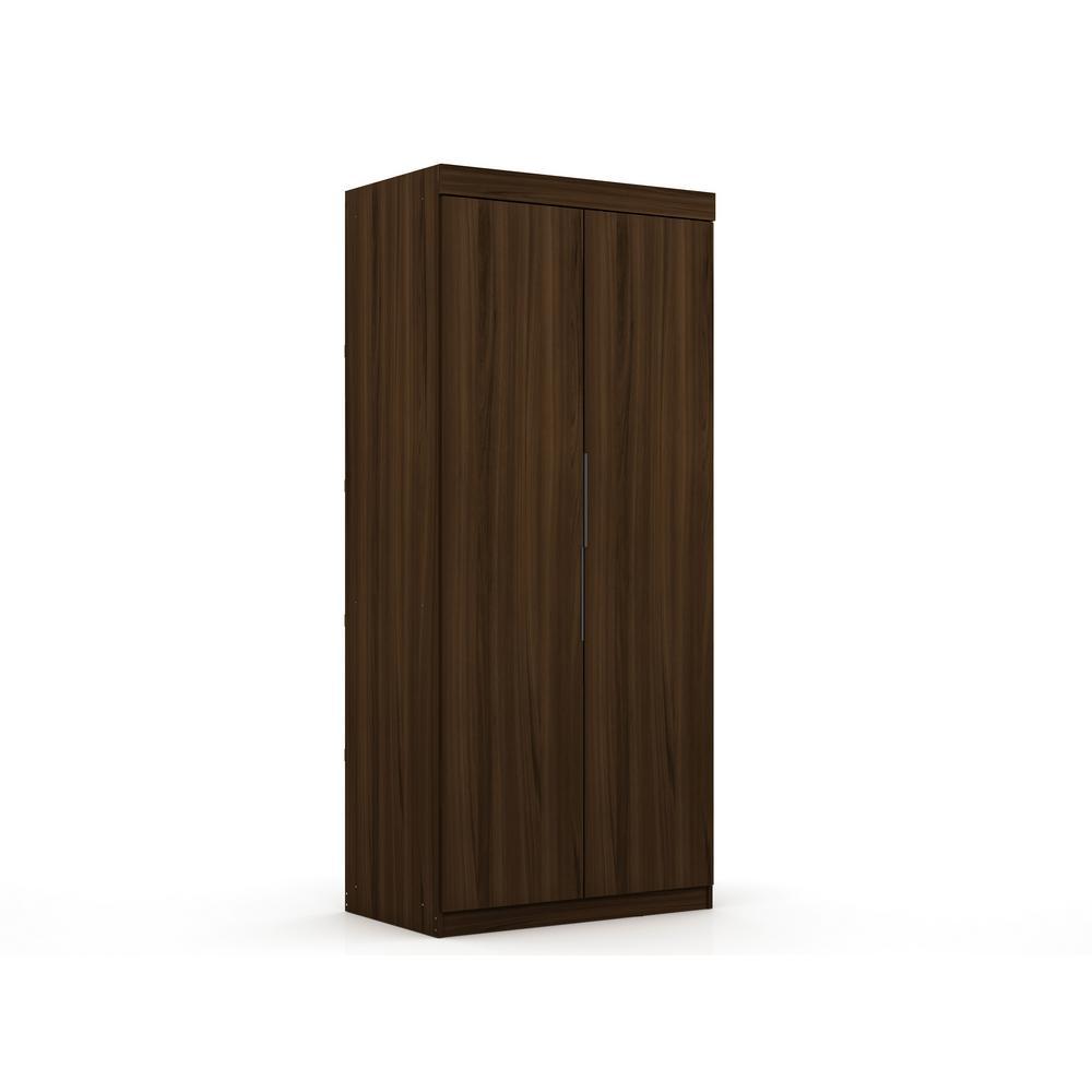Luxor Ramsey 2.0 Brown Sectional Wardrobe Closet 116HD2