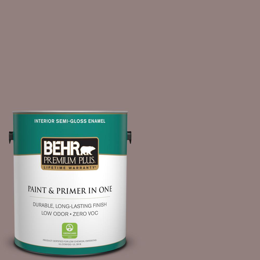 1-gal. #730B-5 Warm Embrace Zero VOC Semi-Gloss Enamel Interior Paint