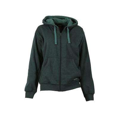Women's XX-Large Jade Heather Cotton and Polyester Fleece Lined Sweatshirt