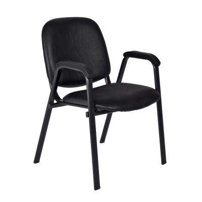 Ace Black Vinyl Stack Chair