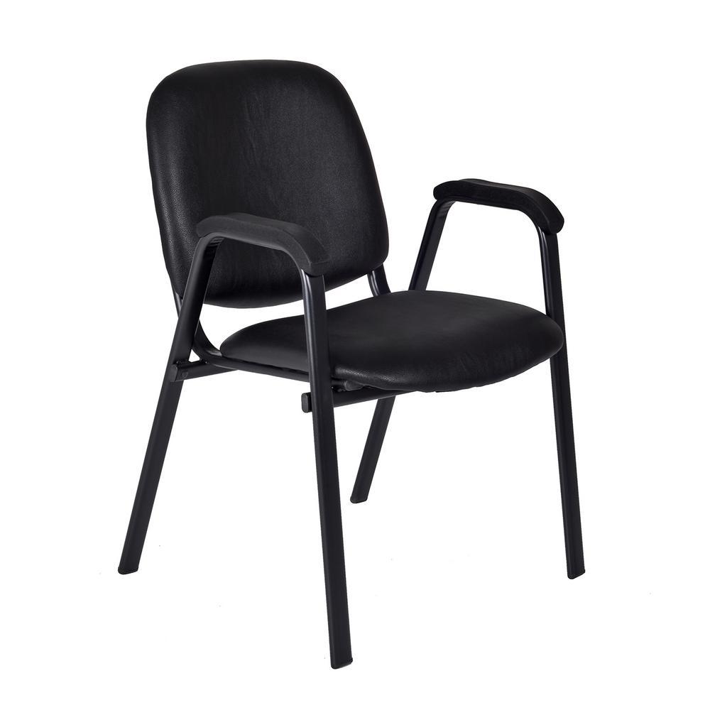 Ace Black Vinyl Stack Chair