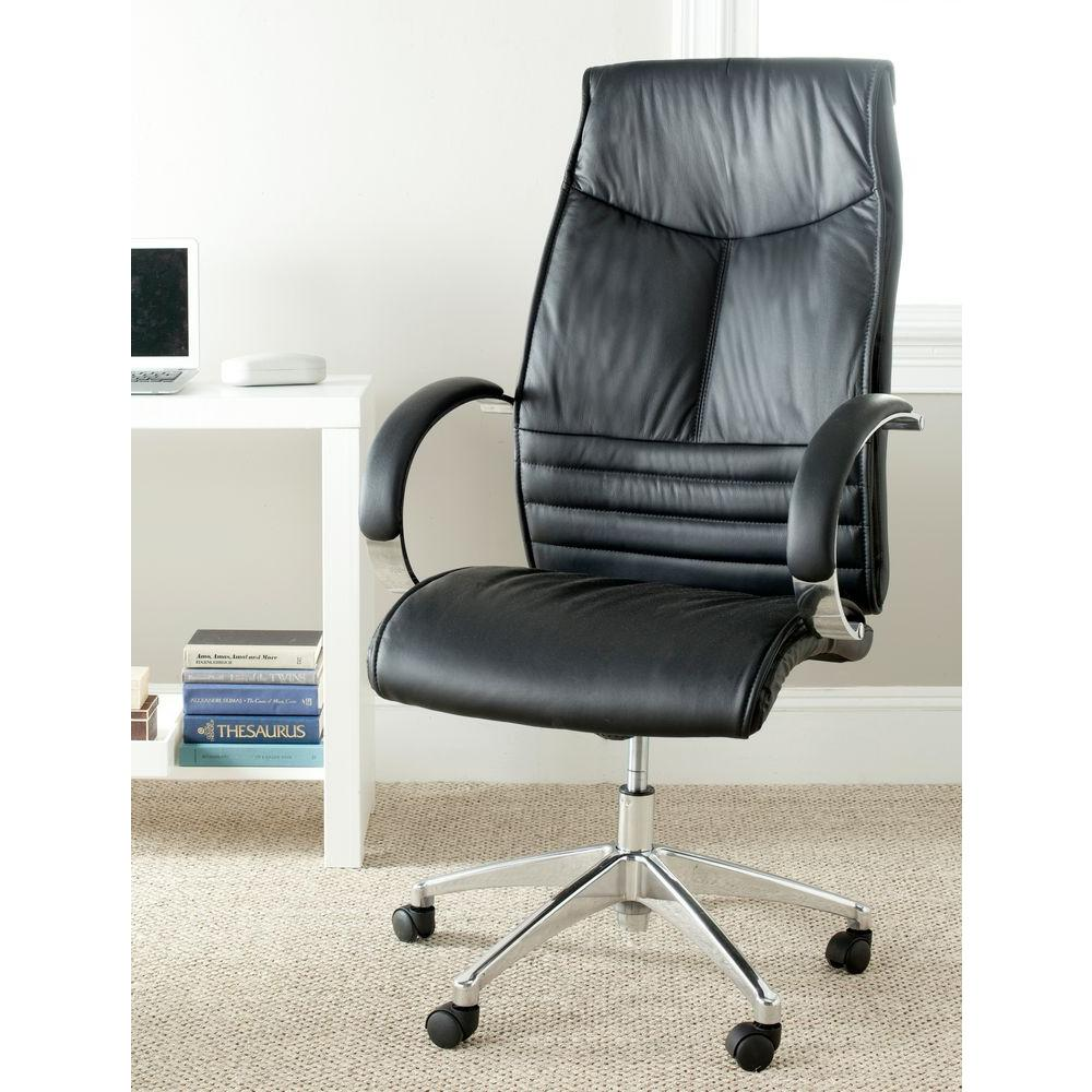 Safavieh Martell Black Leather Office Chair