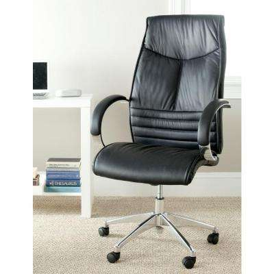 Martell Black Leather Office Chair