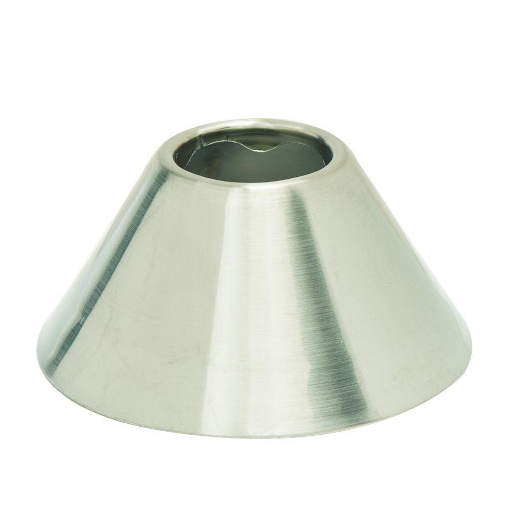 BrassCraft 1/2 in. IPS Bell Escutcheon in Satin Nickel