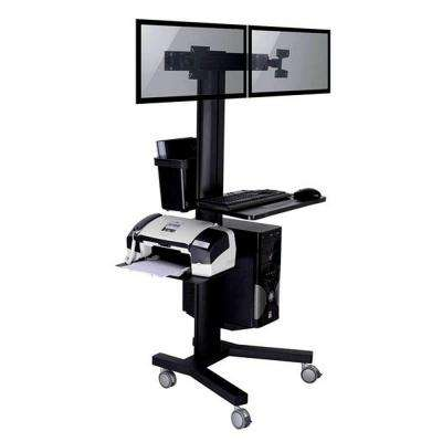 TygerClaw Mobile TV Stand for 2 Screen with PC holder